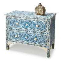 Butler Specialty Furniture | Vivienne Blue Bone Inlay Chest | Bs2851070