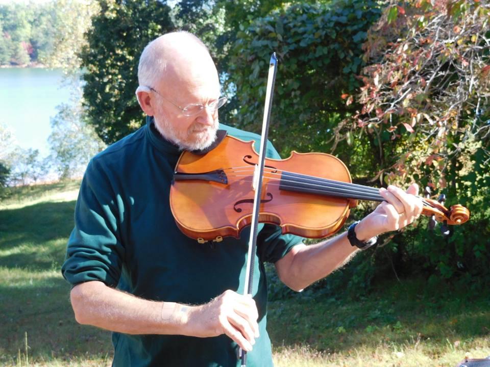 Dr. Jeff playing large viola
