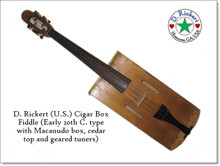 "Custom ""modern"" type cigar box fiddle by D. Rickert Musical Instruments"