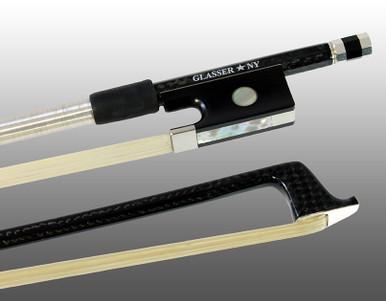 Glasser Braided Carbon Fiber Bow for Violin, Round Stick 1