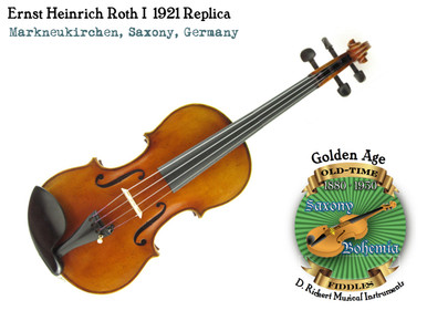 Ernst Heinrich Roth I 1921-1933 Violin Replica by D. Rickert Musical Instruments