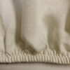 Ivory Fitted Sheet In Flax with French Seams And Sturdy Elastic All Around