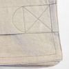 Linoto duvet cover made from organic Belgian linen. Detail photo placket stitching.