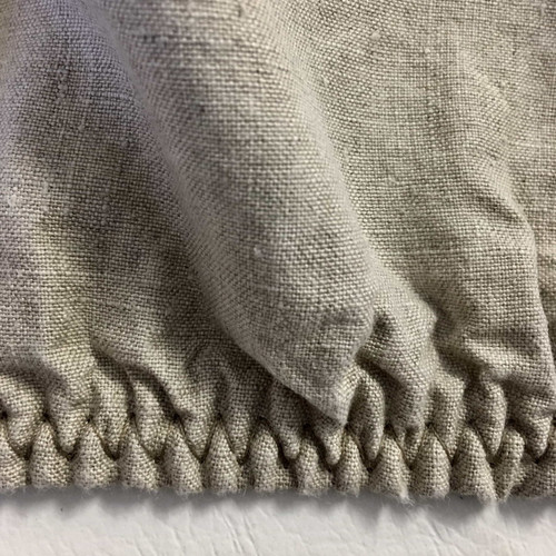 Belgian eco-linen fitted sheet natural unbleached flax
