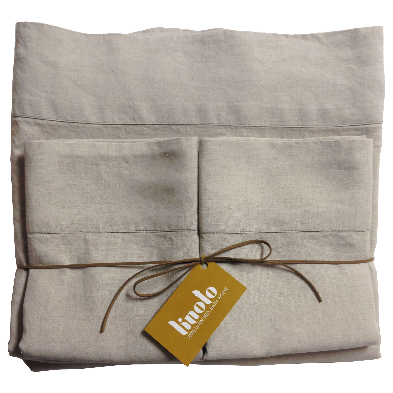 Linoto organic linen sheet set (natural)