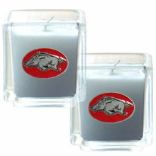 Arkansas Razorbacks Vanilla Candle Set NCCA College Sports C2CD12