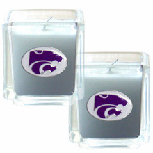 Kansas State Wildcats Vanilla Candle Set NCCA College Sports C2CD15
