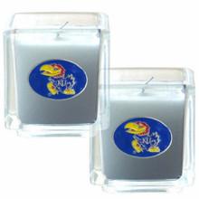 Kansas Jayhawks Vanilla Candle Set NCCA College Sports C2CD21