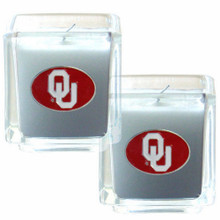 Oklahoma Sooners Vanilla Candle Set NCCA College Sports C2CD48