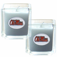 Mississippi Rebels Vanilla Candle Set NCCA College Sports C2CD59