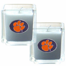 Clemson Tigers Vanilla Candle Set NCCA College Sports C2CD69