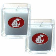 Washington State Cougars Vanilla Candle Set NCCA College Sports C2CD71