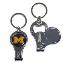 Michigan Wolverines 3 in 1 Keychain NCCA College Sports C3KC36