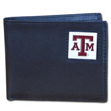 Texas A&M Aggies Black Bifold Wallet NCCA College Sports CBI26