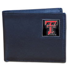 Texas Tech Raiders Black Bifold Wallet NCCA College Sports CBI30