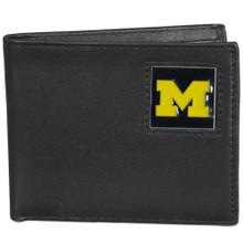 Michigan Wolverines Black Bifold Wallet NCCA College Sports CBI36
