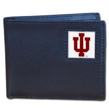Indiana Hoosiers Black Bifold Wallet NCCA College Sports CBI39
