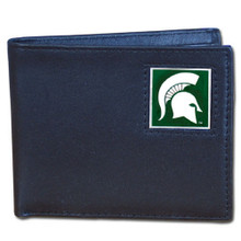 Michigan State Spartans Black Bifold Wallet NCCA College Sports CBI41