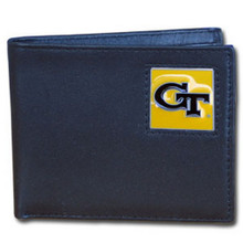 Georgia Tech Yellow Jackets Black Bifold Wallet NCCA College Sports CBI44