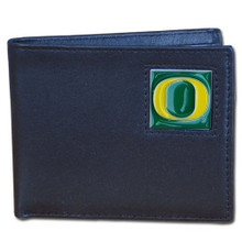 Oregon Ducks Black Bifold Wallet NCCA College Sports CBI50