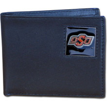 Oklahoma State Cowboys Black Bifold Wallet NCCA College Sports CBI58