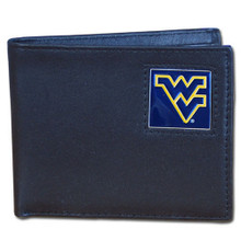 West Virginia Mountaineers Black Bifold Wallet NCCA College Sports CBI60