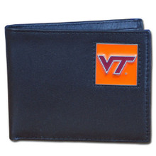 Virginia Tech Hokies Black Bifold Wallet NCCA College Sports CBI61