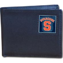 Syracuse Orange Black Bifold Wallet NCCA College Sports CBI62