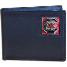 South Carolina Gamecocks Black Bifold Wallet NCCA College Sports CBI63