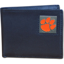 Clemson Tigers Black Bifold Wallet NCCA College Sports CBI69