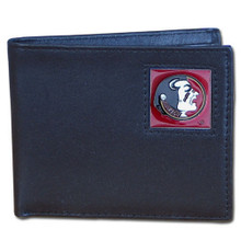 Florida State Seminoles Black Bifold Wallet NCCA College Sports CBI7