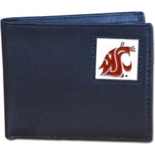 Washington State Cougars Black Bifold Wallet NCCA College Sports CBI71
