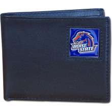 Boise State Broncos Black Bifold Wallet NCCA College Sports CBI73