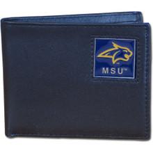 Montana State Bobcats Black Bifold Wallet NCCA College Sports CBI74