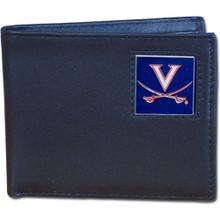 Virginia Cavaliers Black Bifold Wallet NCCA College Sports CBI78