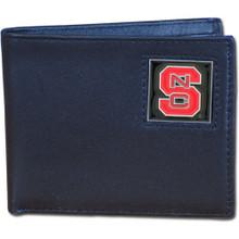 North Carolina State Wolfpack Black Bifold Wallet NCCA College Sports CBI79