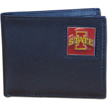 Iowa State Cyclones Black Bifold Wallet NCCA College Sports CBI83