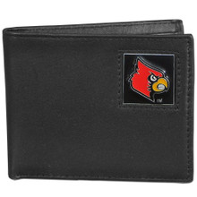 Louisville Cardinals Black Bifold Wallet NCCA College Sports CBI88
