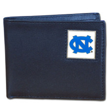 North Carolina Tar Heels Black Bifold Wallet NCCA College Sports CBI9