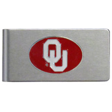 Oklahoma Sooners Brushed Money Clip NCCA College Sports CBMC48
