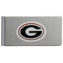 Georgia Bulldogs Brushed Money Clip NCCA College Sports CBMC5