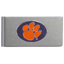Clemson Tigers Brushed Money Clip NCCA College Sports CBMC69