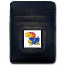 Kansas Jayhawks Leather Money Clip Card Holder Wallet NCCA College Sports CCH21