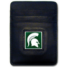 Michigan State Spartans Leather Money Clip Card Holder Wallet NCCA College Sports CCH41