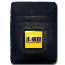 LSU Tigers Leather Money Clip Card Holder Wallet NCCA College Sports CCH43