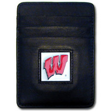 Wisconsin Badgers Leather Money Clip Card Holder Wallet NCCA College Sports CCH51