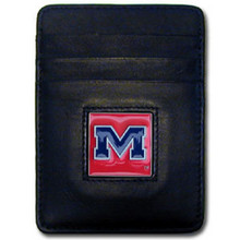 Mississippi Rebels Leather Money Clip Card Holder Wallet NCCA College Sports CCH59