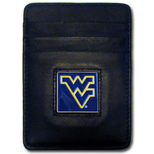 West Virginia Mountaineers Leather Money Clip Card Holder Wallet NCCA College Sports CCH60