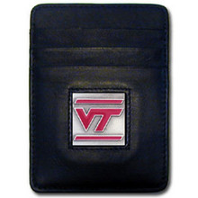 Virginia Tech Hokies Leather Money Clip Card Holder Wallet NCCA College Sports CCH61