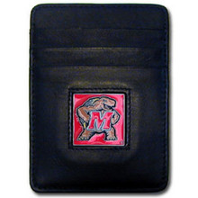 Maryland Terrapins Leather Money Clip Card Holder Wallet NCCA College Sports CCH64